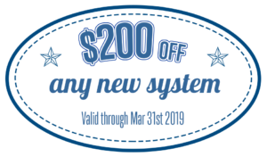 $200 off new system coupon March 2019
