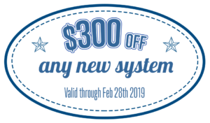 $300 off new HVAC system Feb 2019