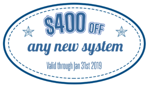 $400 off new HVAC system Jan 2019