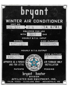 Awesome old Bryant AC faceplate