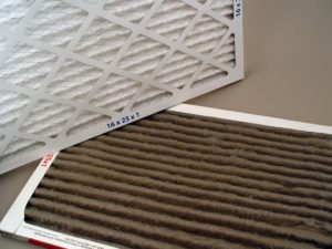 Dirty and clean HVAC filters